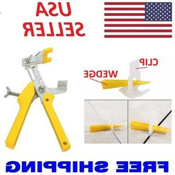 100-1000 Reusable Tile Leveling System Clips Wedges Wall Flo