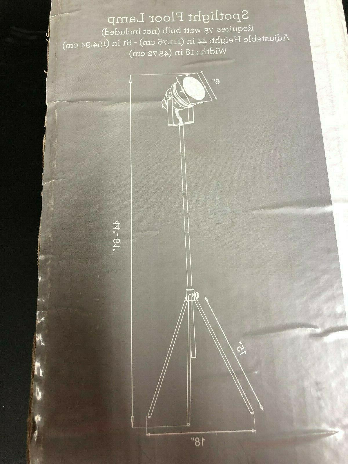 NWT Adesso Spot Floor Lamp New