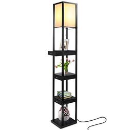 Brightech Maxwell Drawer Edition - Shelf & LED Floor Lamp Co